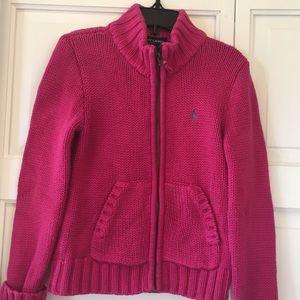 Girls sweater jacket size 6X by Ralph Lauren